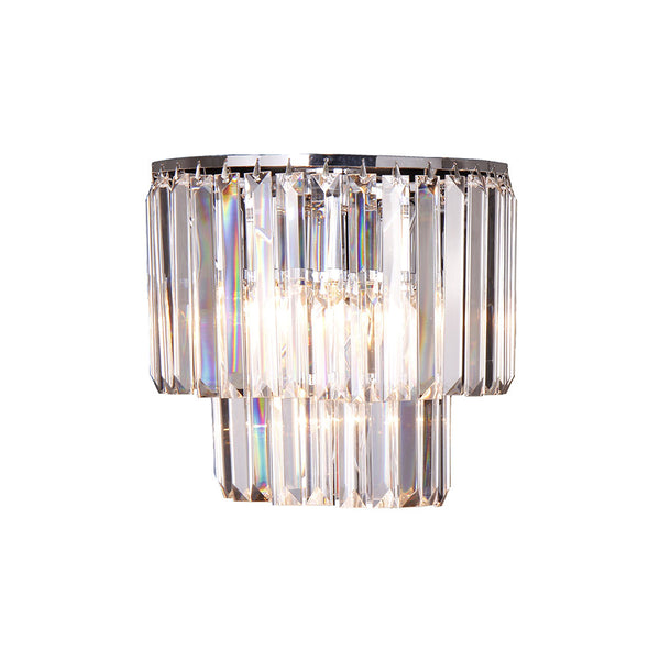Celestial 2 Tier Crystal Prism Chandelier Wall Light