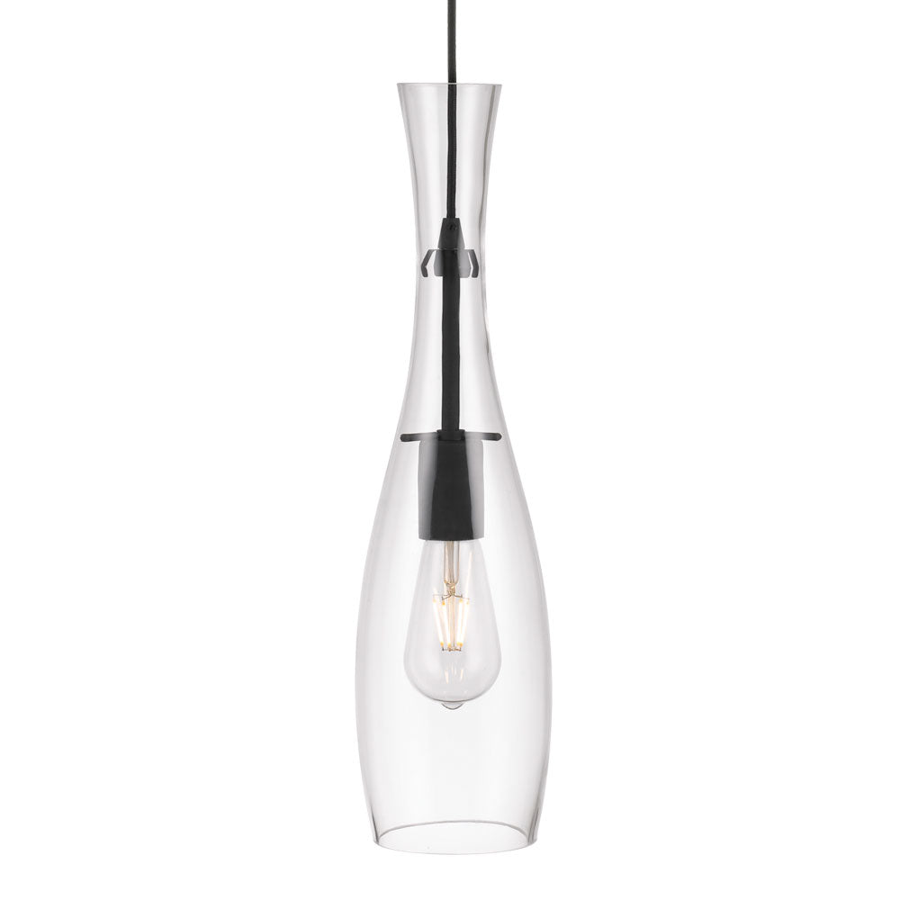 Conie Clear Glass Thin Bottle Pendant