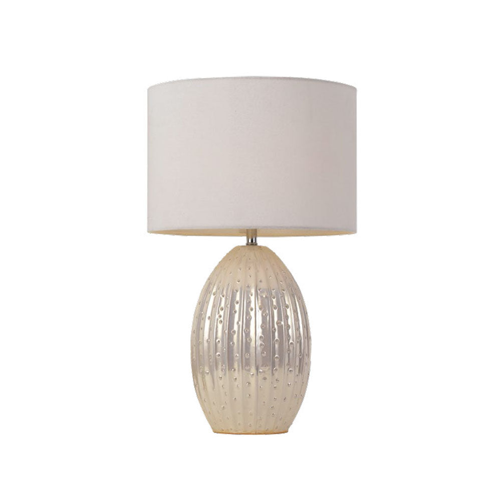Darla White Pearl Table Lamp