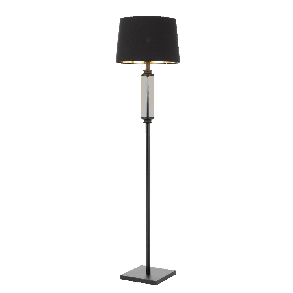 Dorcel Black and Smoke Traditional Floor Lamp