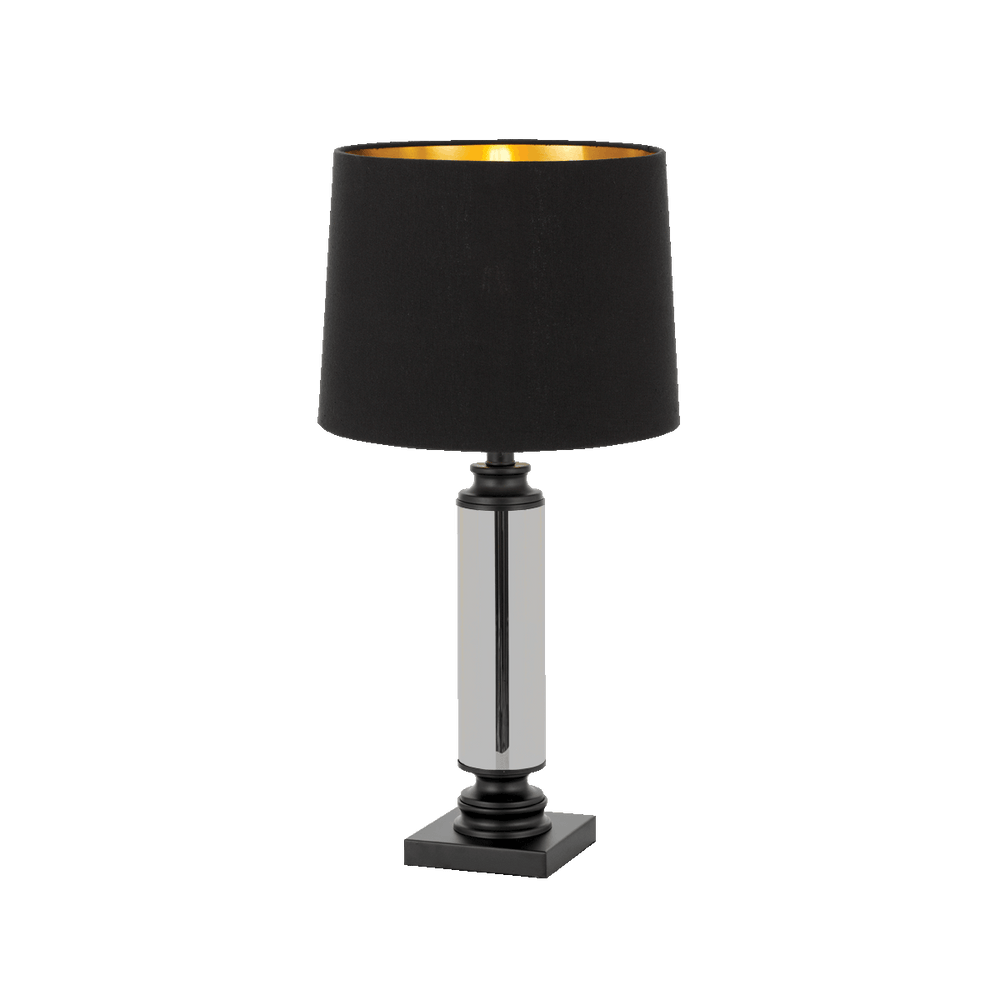 Dorcel Black and Smoke Traditional Table Lamp