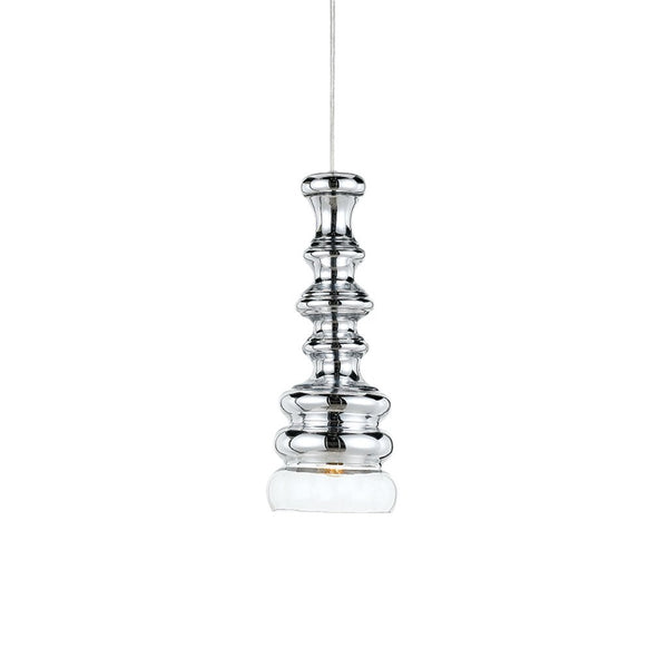 Dorita Chrome Ridge Vase Pendant
