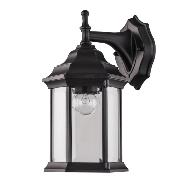 Doveton Black Downward Coach Wall Lantern by Amond