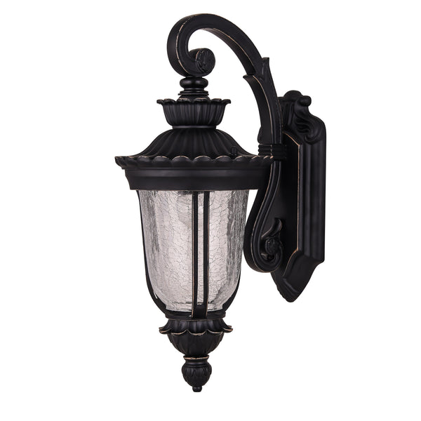 Duneed Black-Bronze Downward Victorian Coach Wall Lantern by Amond