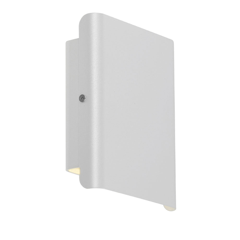 Dante White Up/Down LED Pillar Indoor/Outdoor Wall Light