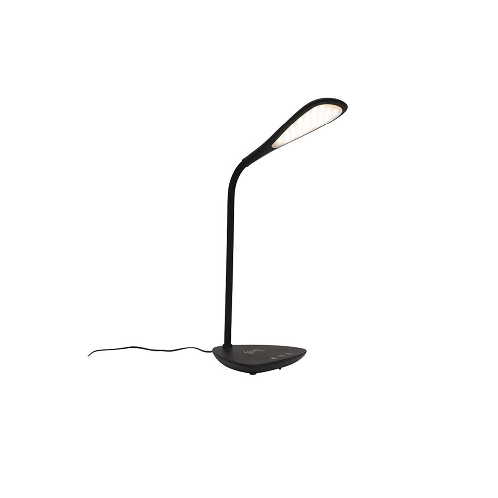 Timothy Black Dimmable LED Desk Lamp with Wireless Charging Station