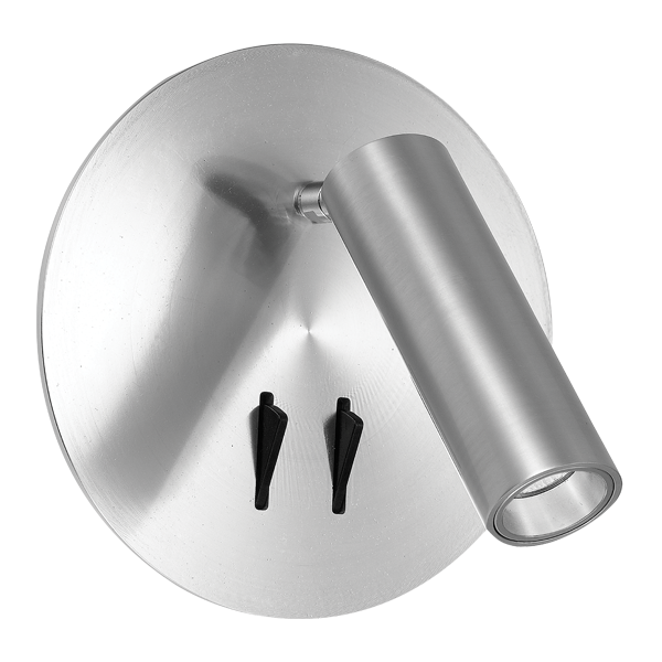 Esra Silver LED Dual Switch Spot and Wall Lamp