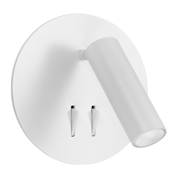 Esra White LED Dual Switch Spot and Wall Lamp