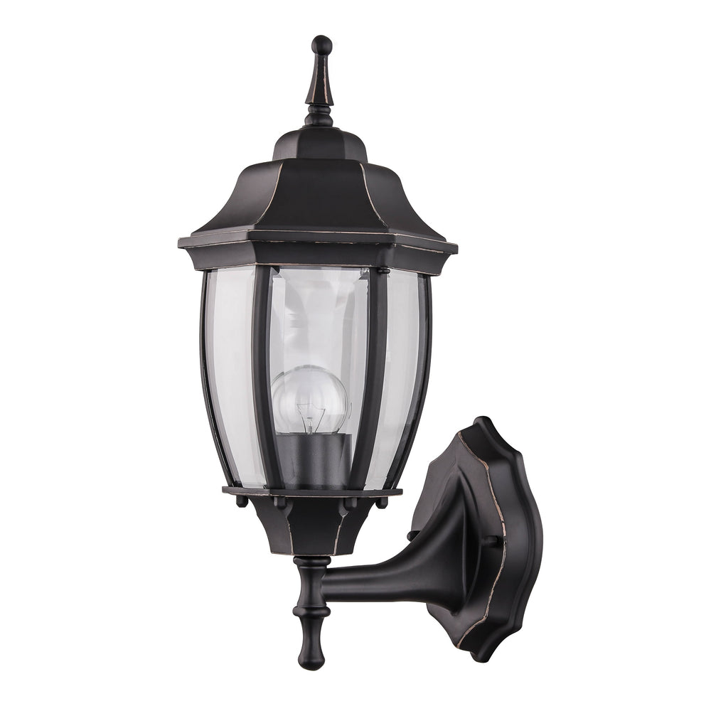 Essex Bronze Two-colour Upward Wall Lantern by Amond