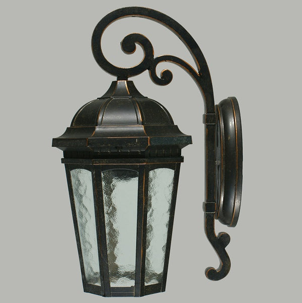 Hyde Medium Rustic Wall Coach Light Exterior Bronze