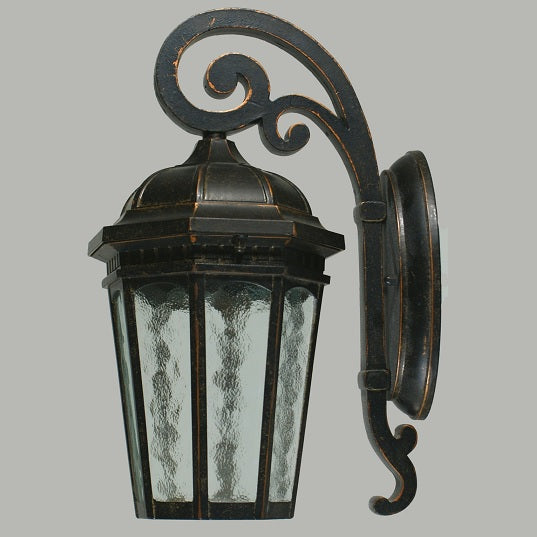 Hyde Small Rustic Wall Coach Light Exterior Bronze