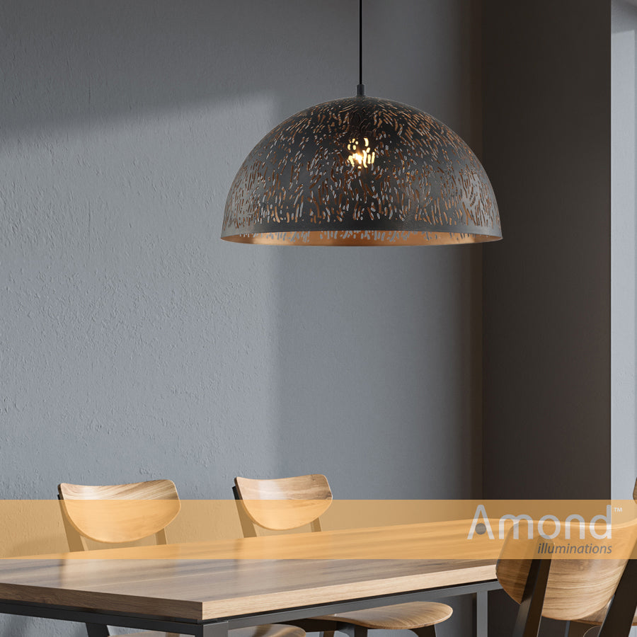 Emery 400mm Laser-cut Designer Teardrop Pendant by Amond