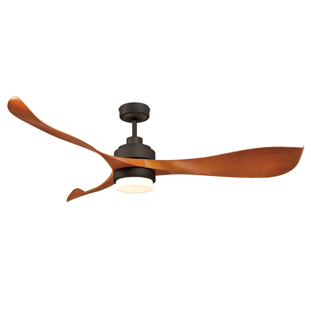 Eagle 1400mm LED Oil-rubbed Bronze 3-Blade DC Motor Ceiling Fan with Light