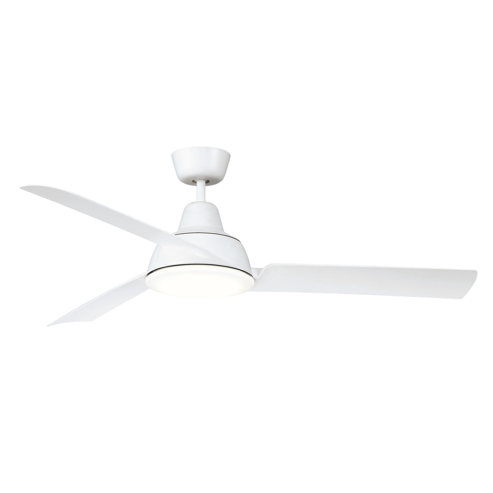 "Airventure 52""/1331mm White with LED Light Three Blade Modern Ceiling Fan"
