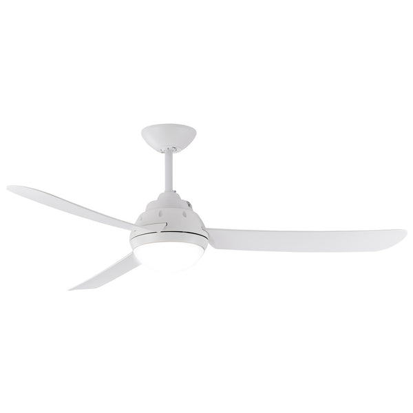 "Voltan 50""/1270mm Three Blade Including B22 Light Modern White Ceiling Fan"