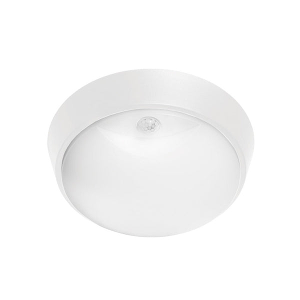 Fletcher 10w Round Exterior LED Bunker Light with Sensor