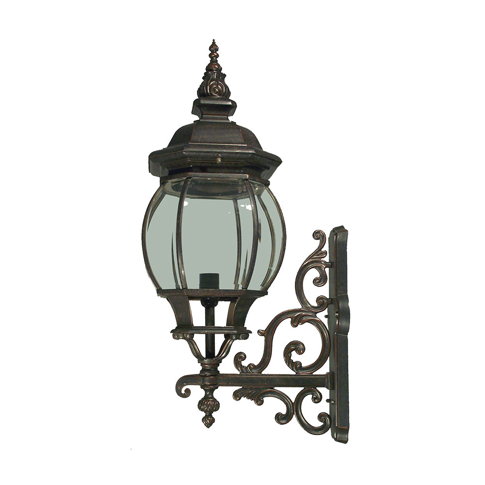 Flinders Medium Bronze Provincial Upright Coach Exterior Light