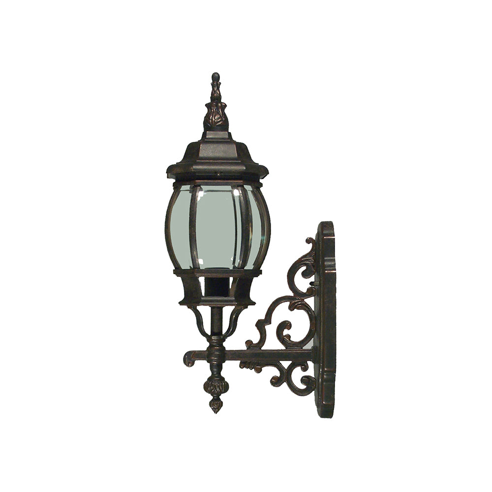 Flinders Small Bronze Provincial Upright Coach Exterior Light