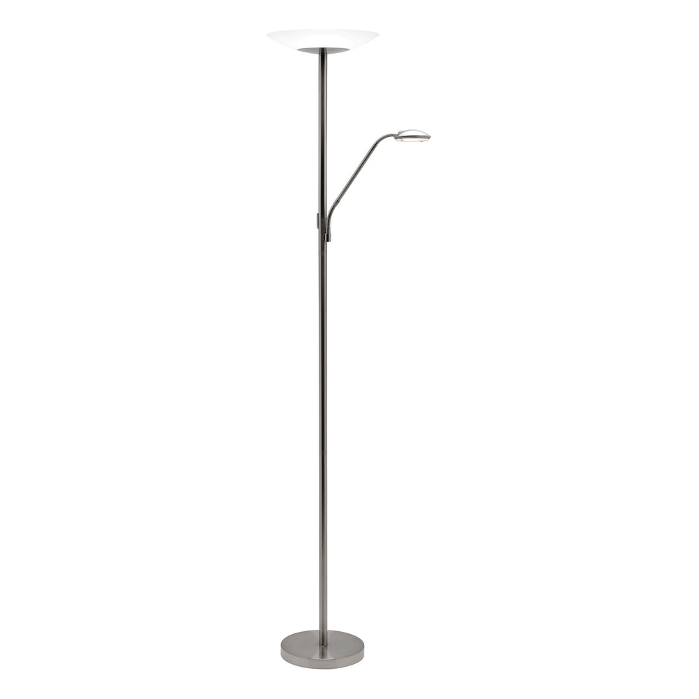 Emilia Brushed Chrome Mother and Child LED Floor Lamp