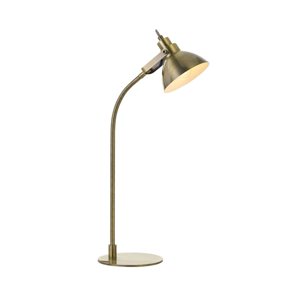 Gwen Antique Brass Desk Lamp