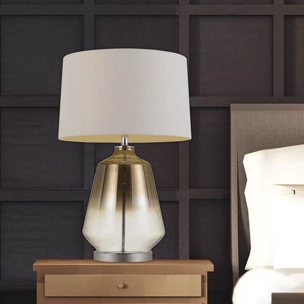 Harper Gold-plated Glass Base Table Lamp
