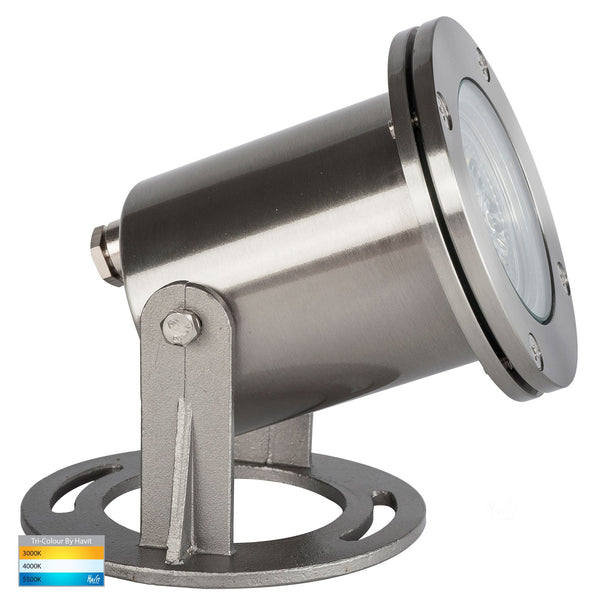 Onder Tri-Colour Submersible 316 Stainless Steel Pond Light