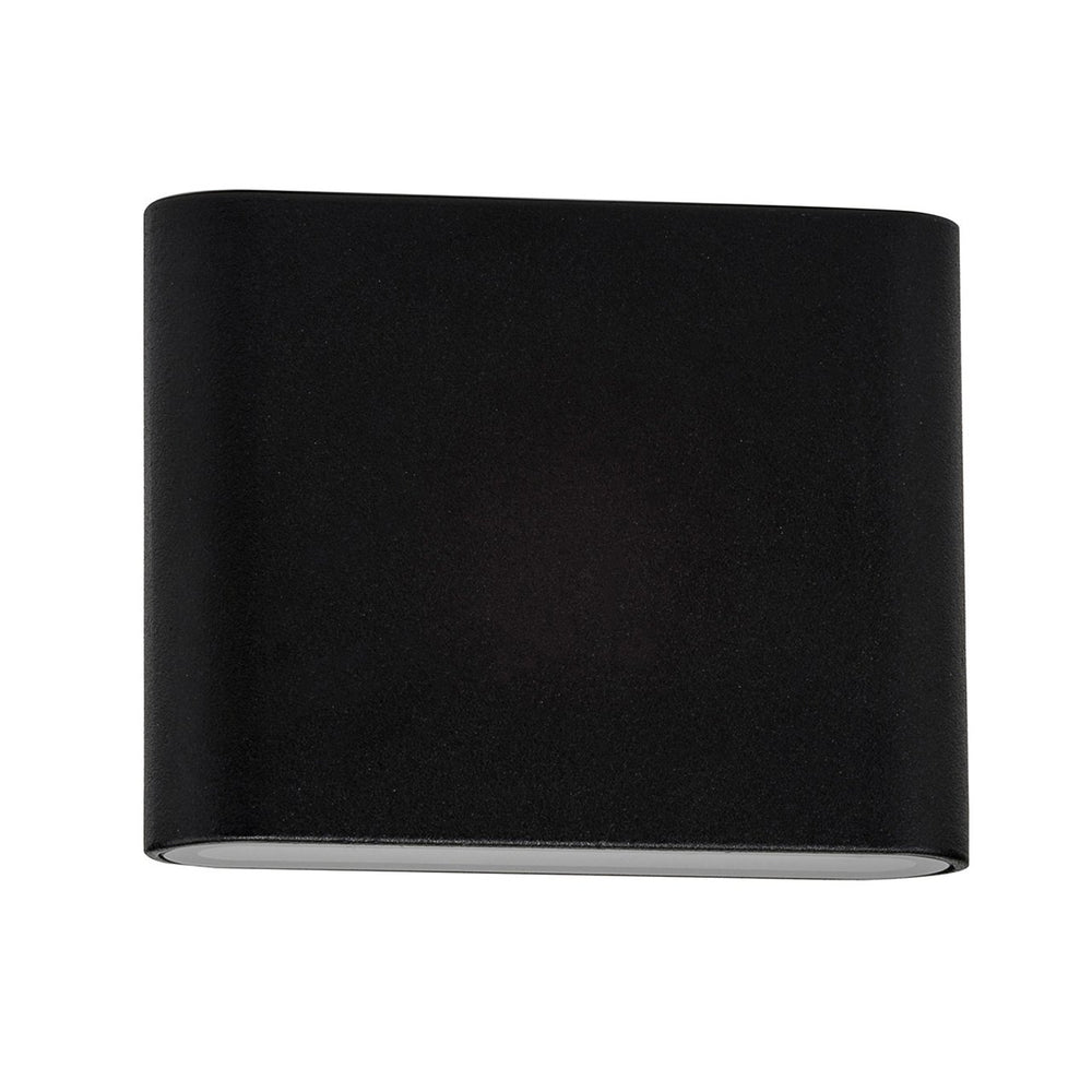 HV3642 Lisse Black Up/Down LED Wall Light