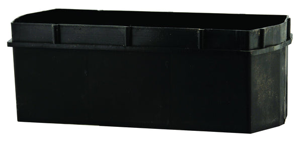 Bata Grille Face Black Recessed Wall Brick Light
