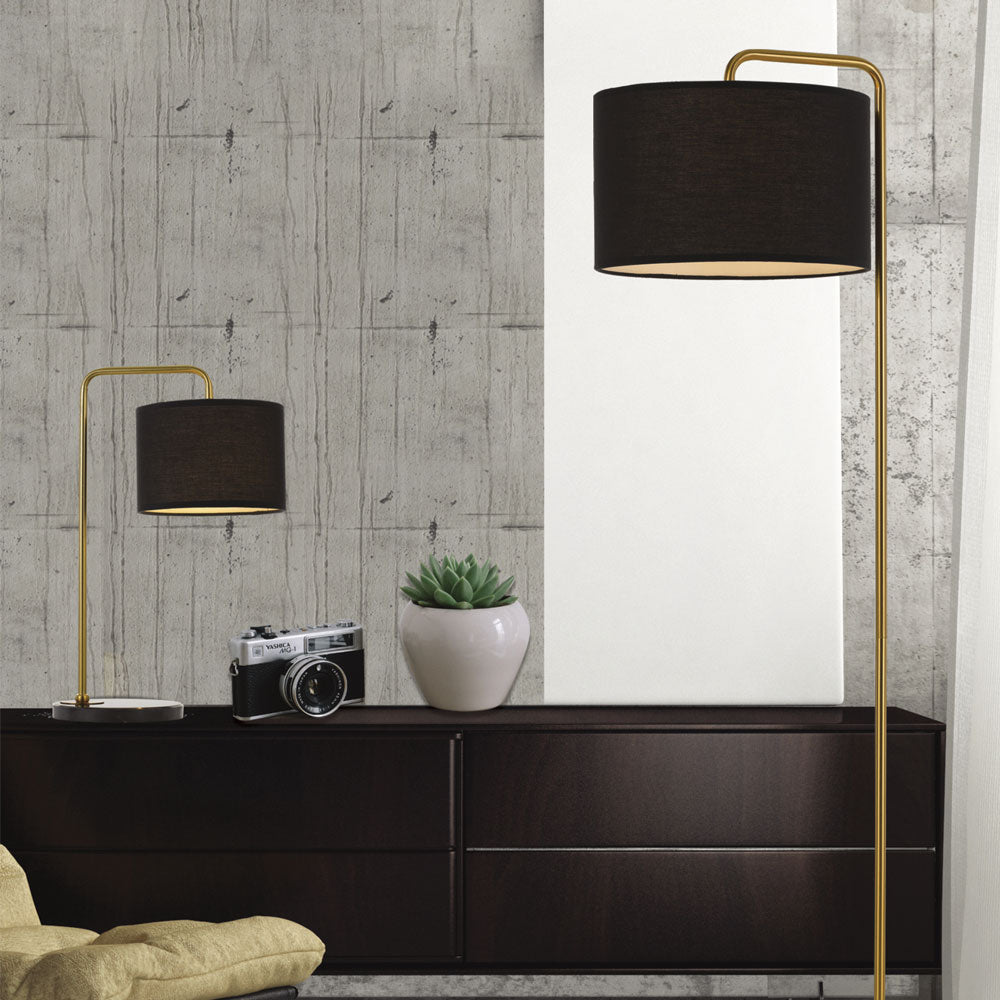 Ingrid Gold and Black Floor Lamp