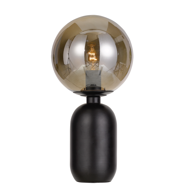 Kade Black Smoke Table Lamp