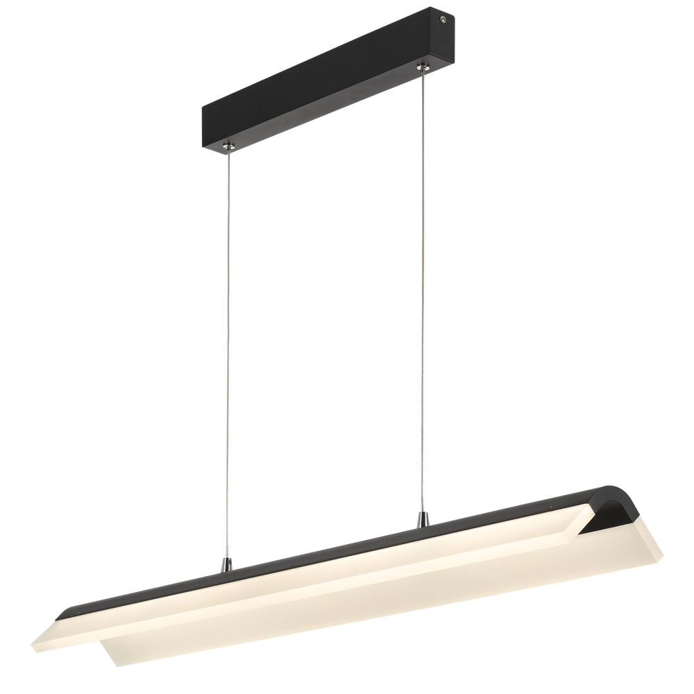 Kaplan 91cm Black V Bar LED Linear Pendant