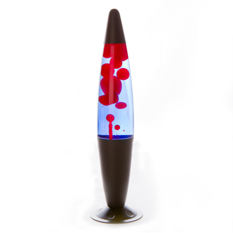Red and Blue with Black Peace Lava Lamp
