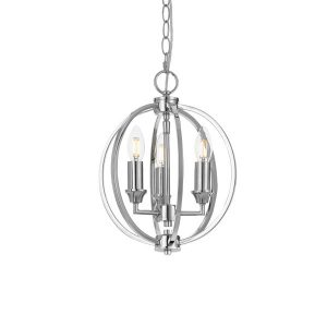 Kendall 3 Light Sphere Pendant Chrome