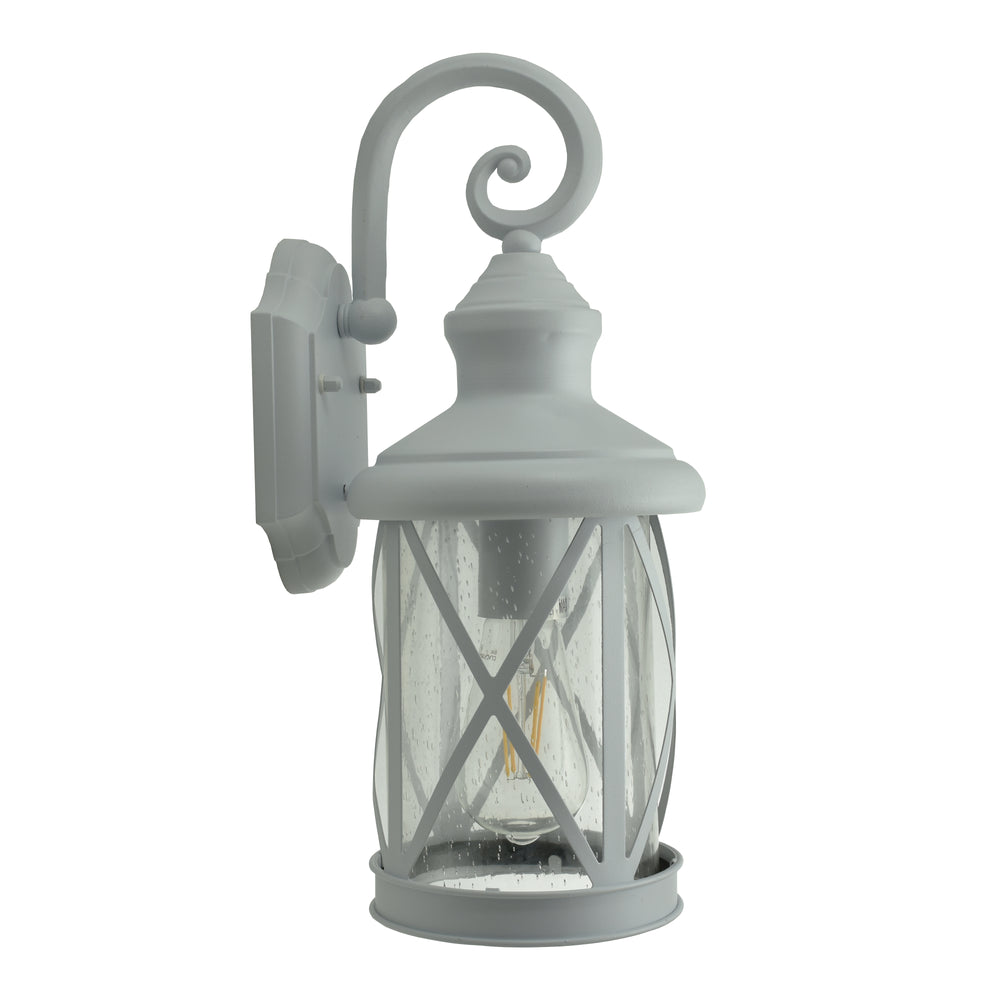 Kinross White Downward Street Lantern Wall Exterior by Amond