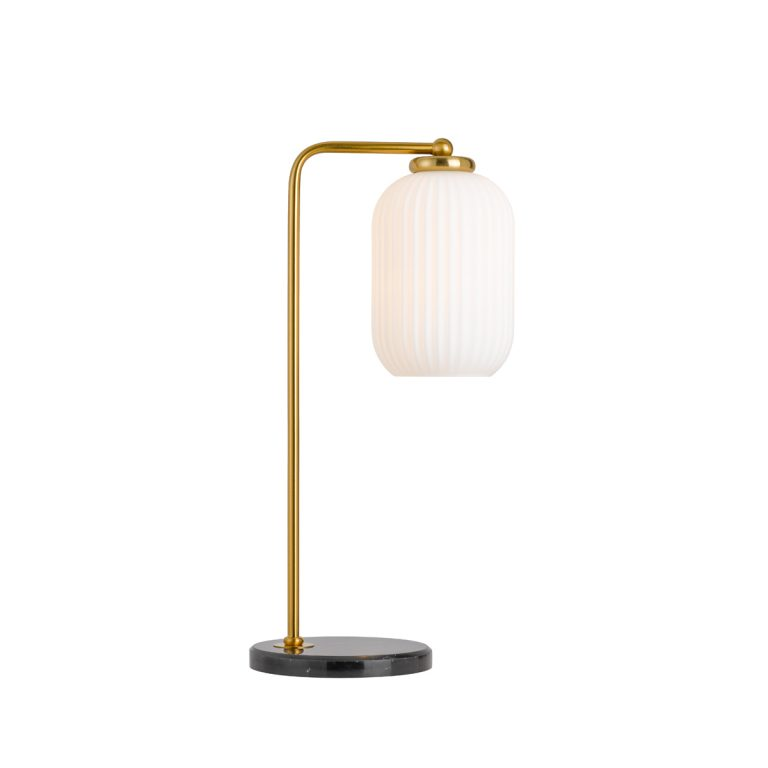 Lark Antique Gold and Opal Studio Table Lamp