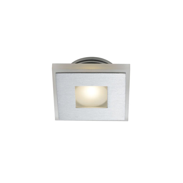 Lima Square-850 Frost Glass and Aluminium Recessed Wall Stair Fixture