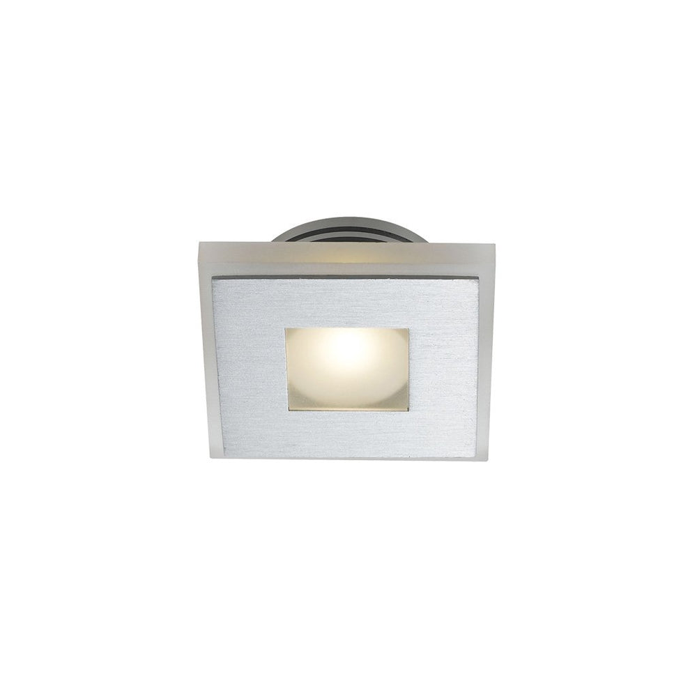 Lima Square-830 Frost Glass and Aluminium Recessed Wall Stair Fixture