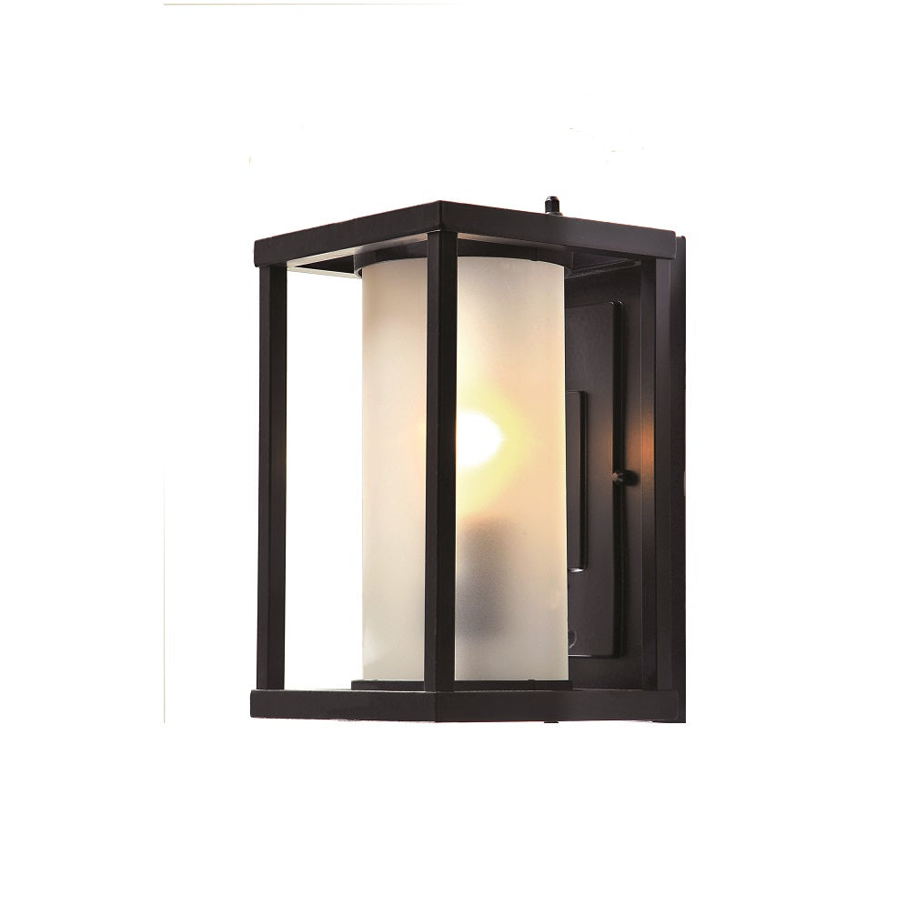 Livingston Black Box and Opal Cylinder Glass Wall Exterior by Amond