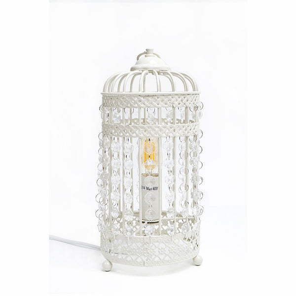 Harmony White cage Modern Table Lamp