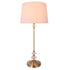 Ringo Crystal with Antique Brass and White Traditional Table Lamp