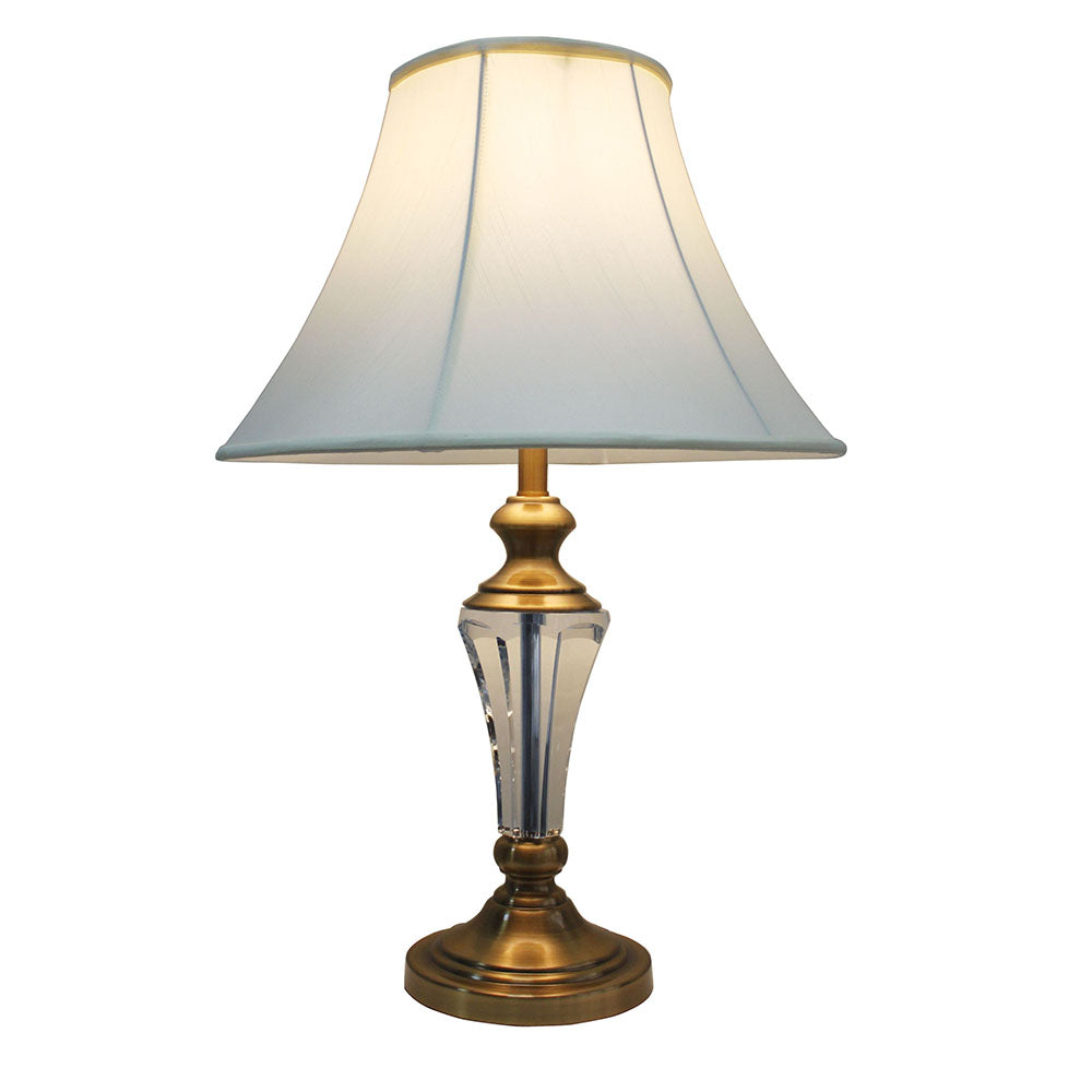 Vienna Crystal and Brass Traditional Table Lamp