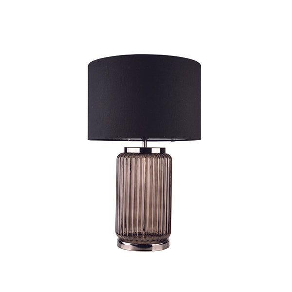 Lindsay Modern Smoke Glass Table Lamp