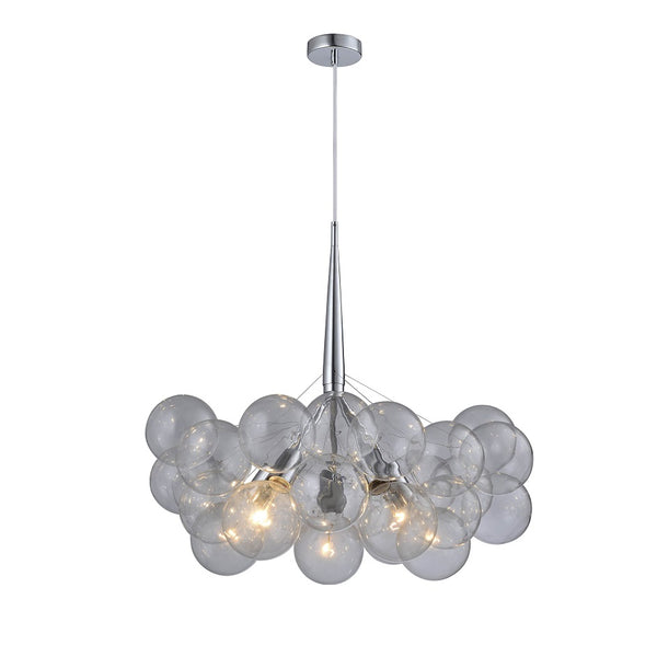 Macey 5 Light Glass Ball Cluster Pendant by Amond