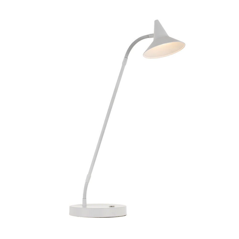 Marit White Three Stage Touch Desk Lamp