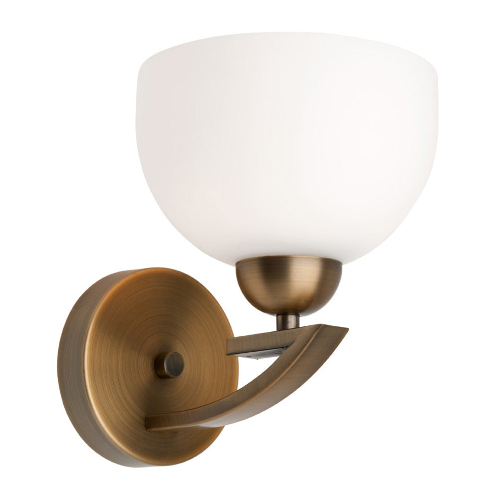 Hepburn Aged Brass Wall Light
