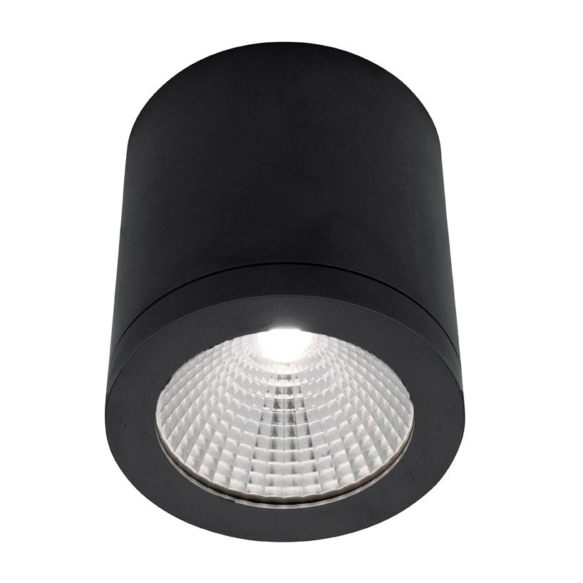 Cooper Black 10w LED Surface-mounted Downlight 3000k