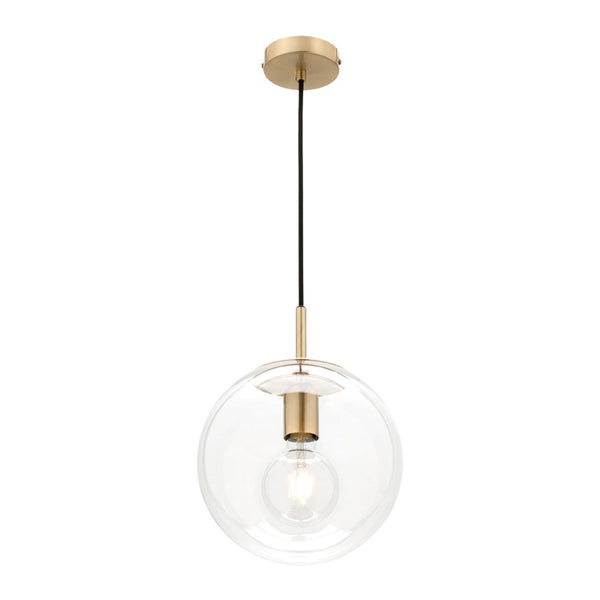 Madrid Small Brass and Glass Sphere Pendant