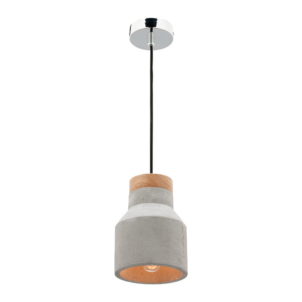 Moby Small Concrete Cylindrical Cone Pendant