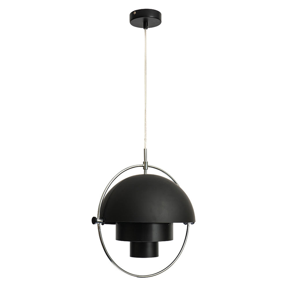Ambrose Matt Black Contemporary Adjustable Pendant