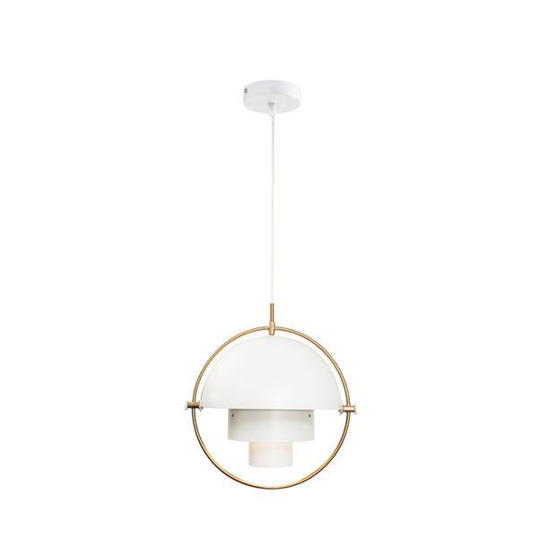Ambrose Matt White Contemporary Adjustable Pendant